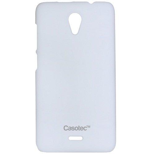 Casotec Ultra Slim Hard Shell Back Case Cover w/ Screen Protector for Micromax Unite 2 A106 - White