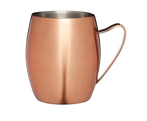 Bar Craft Luxe Lounge 370ml à double paroi en acier inoxydable Moscow Mule Mug, Cuivre