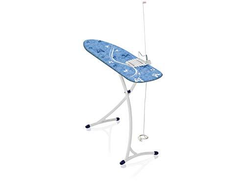 Leifheit Bügeltisch Air Board XL Ergo Plus mit ultraleichter Bügelfläche, Bügelbrett für reduzierte Bügelzeit, Dampfbügeltisch mit stabilem Gestell