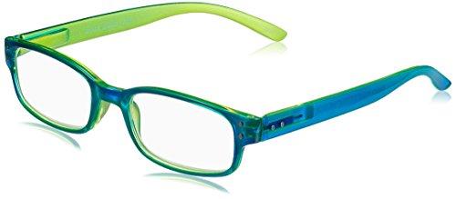 I NEED YOU Lesebrille CHAOT, blau-grün, +1.50 dpt.: Lesebrille mit Federtechnik, Stärke: +1.50 dpt. (in weiteren Farben/Stärken erhältlich)