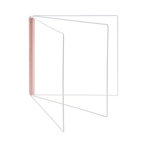 Handtuchhalter Handtuchring Bad faltbar vertikal Küche kreativ ohne Lochung pink (Lochung Vertikale)