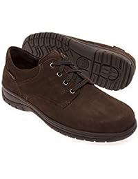 Mephisto - Zapatos de Cordones de Ante para Hombre Marrón Marrón Oscuro 1553ff664370