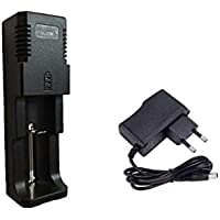 Breewell Universal Singal Battery Charger Li-ion 3.7V 18650/16340/14500/17670/CR123A (Black Color)