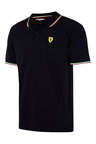 - Scuderia Ferrari SF Herren-Polo-Shirt, in 4 Farben erhältlich, Schwarz , Mens (XXL) Chest 50-52 inches