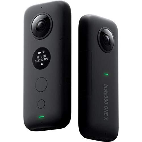 Insta360 ONE X 360 Action Camera, 5.7K Video und 18MP Fotos für Android Unsichtbarer Selfie Stick 360 Panorama-Kamera