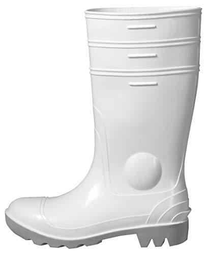 Uvex Nora Gummistiefel 94756 - Sicherheitsstiefel S5 SRC - Weiße Arbeitsstiefel für Damen & Herren - Wasserdichte, Hohe Arbeitsschuhe mit Stahlkappe - Gelb - Größe 42