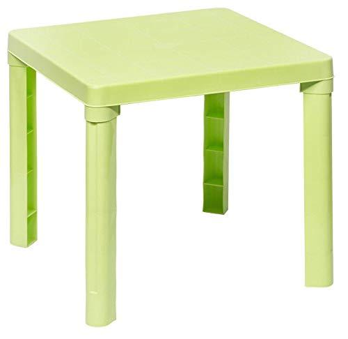 DKB Kindertisch 50 x 50 x 46 cm Maltisch Spieltisch Kinderzimmer Möbel Garten (grün)