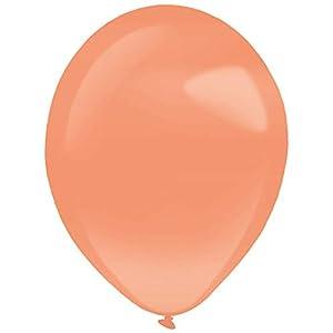 amscan 9905471 - Globos de látex (25 Unidades), Color Naranja
