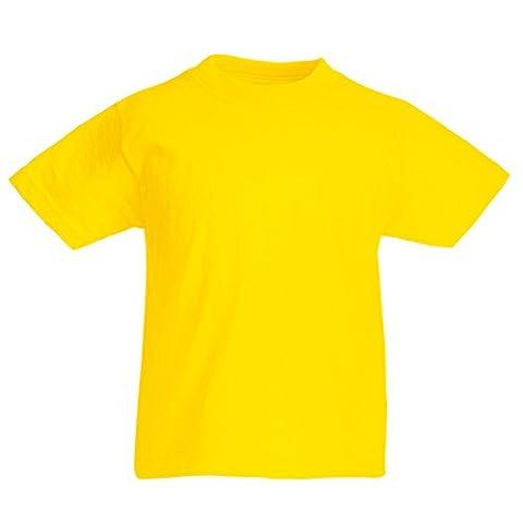 Fruit of the Loom Jungen Modern T-Shirt, Modern, gelb, SS088