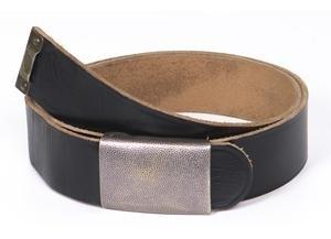 Ledergürtel Hosengürtel Lederkoppel schwarz Länge: 110 cm