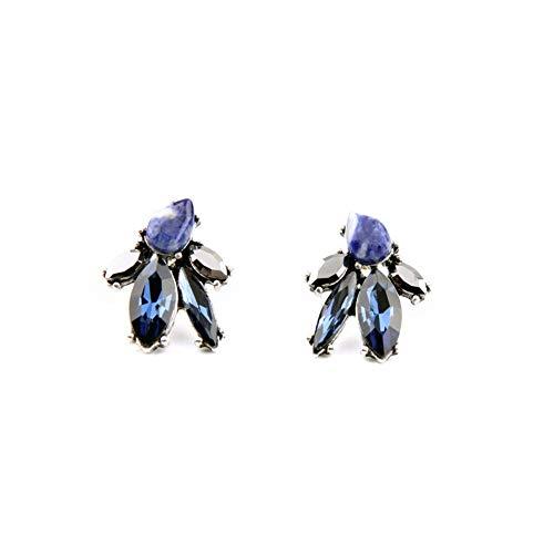 ZHOUYF Ohrringe Ohrstecker Ohrhänger Unregelmäßiger Online-Shop Blue Crystal Concise Style Moderne Frauen Ohrstecker