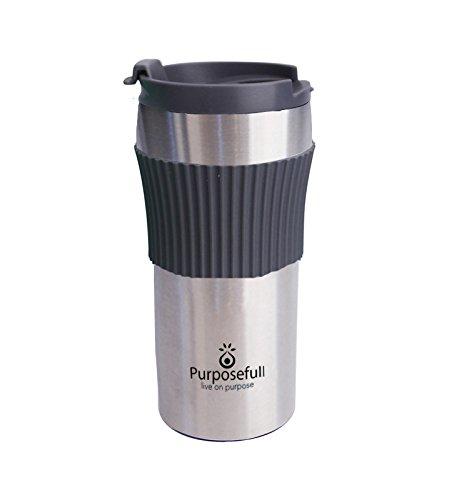 Purposefull Edelstahl Kaffeemaschine Reise Tasse - 12 Oz/0,35 Liter Tasse - Kaffeebereiter/Französisch Drücken - 1 Tasse
