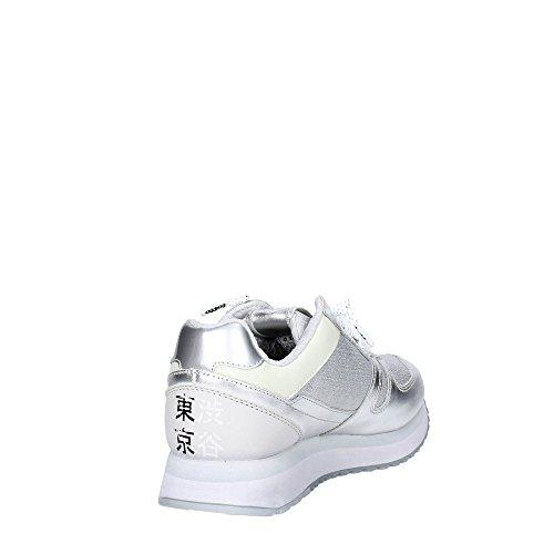 Lotto Leggenda, Donna, Tokyo Wedge W Silver White, Pelle / Mesh, Sneakers, Grigio Argento
