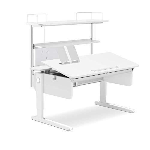 moll Champion Compact Flex Deck Erweiterung Kinderschreibtisch, Weiß, 30 x 86 x 63 cm