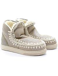 Mou Stivale alla Caviglia Bambina Platino Inchiostro Art.Mini Eskimo  Sneaker Kid 40 Platino ( 9835764495c