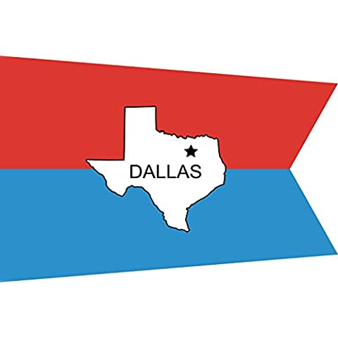magFlags Bandiera Dallas old | Old flag for the city of Dallas, Texas 90x150cm - Tex Texas Flag