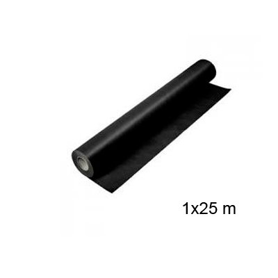 Fabrisa 152833 - Rollo de papel kraft, 1 x 25 m, color negro