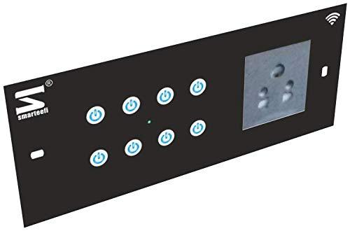 Smarteefi 8 Port WiFi Smart Switch Board, 7 Smart Switches, 1 Smart Plug, Compatible with Alexa (6M-Horizontal (220mmx90mmx40mm))