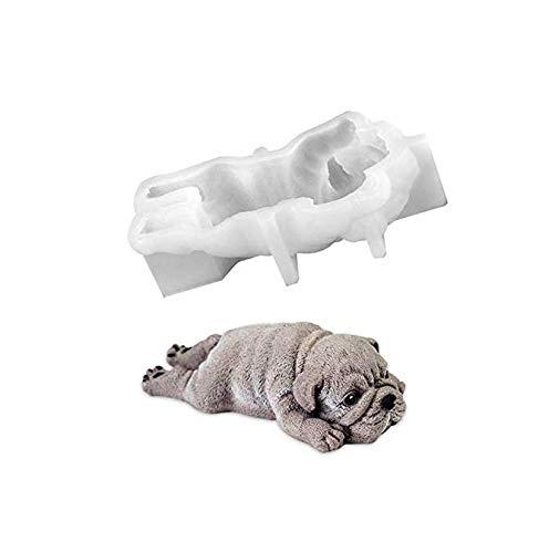 Gwill 1 P cs Pudding Kuchenform Form Silikon Mousse 3D Shar Pei EIS Pudding Kühler Dekoration Hund Fondant -