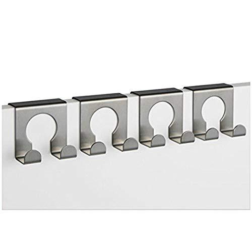 TP-Produkte 16114 Kleiderhaken Türhaken Tür Gaderobe Gaderobenhaken, 4 Haken, 5 X 5cm