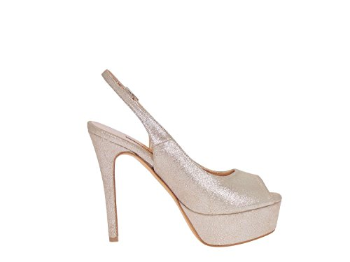 Ideal Shoes , Sandali donna, oro (champagne), 41 EU