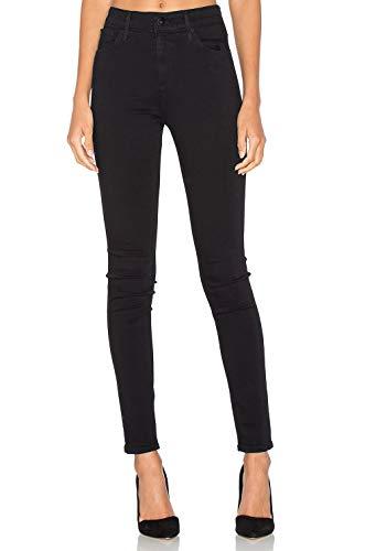 Pantalones Vaqueros Mujer Pitillo Moda de Tiro Alto Negro XS