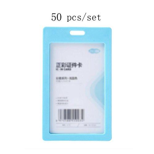 Liu Yu·Büroflächen, Bürobedarf hellblaue Plastikdokumente Sätze von Sets mit Lanyard Abzeichen Arbeitskarte Arbeitserlaubnis 50 Stück/Set