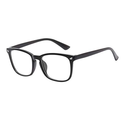 Meijunter Blue Light Blocking Brille - Gläser für Computer Phones TV UV Schutz Reading Books Glasses Unique Männer Frau Goggle (Matt Schwarz)