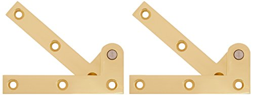 Deltana PH35U3 Solid Brass 3 7/8-Inch x 5/8-Inch x 1/4-Inch Pivot Hinge by Deltana