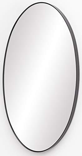 FineBuy Wandspiegel 45x80x4 cm Spiegel mit Rahmen Anthrazit Flurspiegel Groß   Hängespiegel Flur zum Aufhängen   Garderobenspiegel Wand Modern   Dekospiegel Wohnzimmer Schlafzimmer