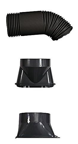 Klimatronic Lokale Klimageräte-Zubehör Progress Component Kit, Ersatzteil-Set mit Abluftschlauch, Fenster- und Geräteadapter - passend für alle Geräte, 1 Stück, 12532