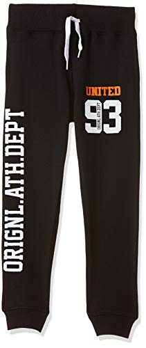 T2F Boy's Joggers Track Pant (7-8 Years, Black)