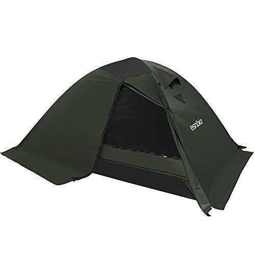 ESNBIA Kuppelzelt 2 Person 4 Season Wasserdichtes Campingzelt für Outdoor Backpacking Wandern, Einfache Einrichtung (Grün, 220 x 160 x 110 cm)