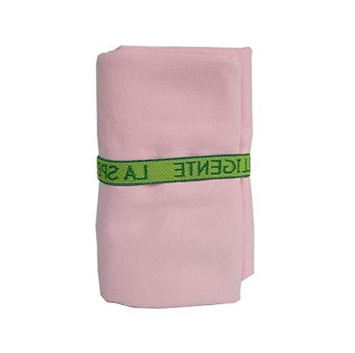 Yogamatte Schnelltrocknendes Handtuch Mikrofaser Badetuch Reisesport Schwimmen Fitnessraum Erwachsene Decke Sauna Großer Strand + Handtücher Groß (Color : Pink, Size : 100cm x 200cm)