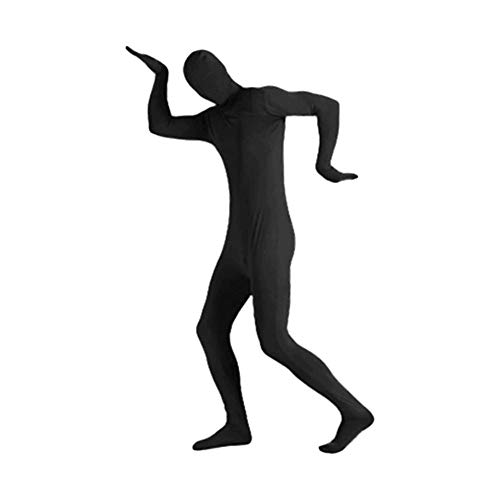 Spandex Kostüm Herren - myonly Halloween-Kostüm Ninja für Herren, Ganzkörper-Spandex/Lycra-Anzug, Schwarz, 190
