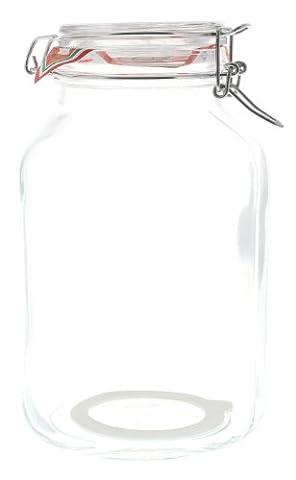 Bormioli Einmachglas Vorratsglas mit Bügelverschluß, 3 Liter