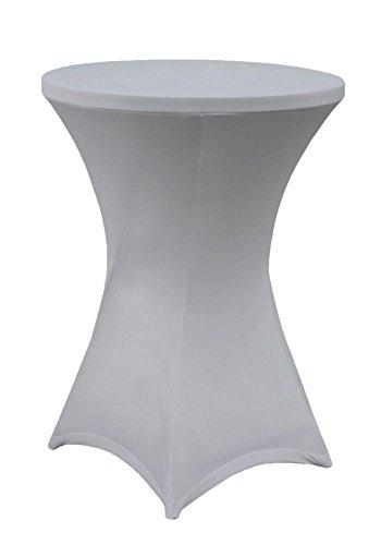 Stehtischhusse Husse für Stehtische Stretch silver Ø 60cm