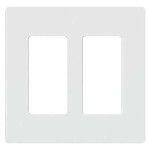 Lutron CW-2-WH-48 Claro 2-Gang Wall Plate, White, 48-Pack by Lutron