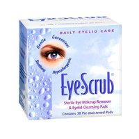 Eye-Scrub Eye Scrub Sterile Eye Makeup Remover And Eyelid Cleansing Pads, 30 each (Pack of 2) by Eye-Scrub