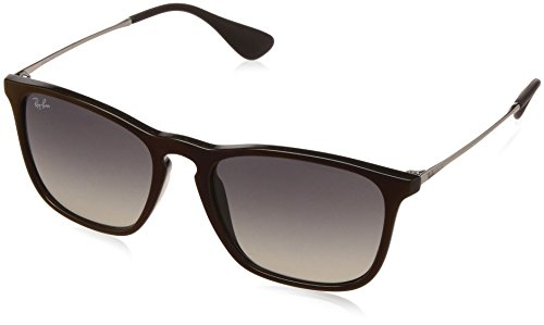 RAYBAN JUNIOR Herren Sonnenbrille Chris Black Sp Red/Greygradientdarkgrey, 54