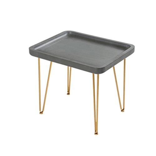KTYXGKL Nordic Sofa EIN Paar Einfache Nachahmung Zement Balkon Tisch Eisen Mobile Kleine Couchtisch...