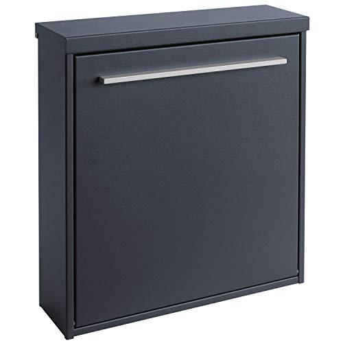MOCAVI Box 99 Moderner Design-Briefkasten anthrazit-grau (ral 7016) mit Schloss, deutsche Markenqualität - 6