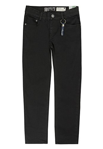 Lemmi Jungen Hose Jeans Tight fit Slim, Schwarz (Black Denim 0010), 176