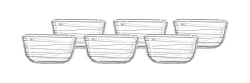 Leonardo 014739 Set 6 Glas Schale Struttura Gusto, 12 cm