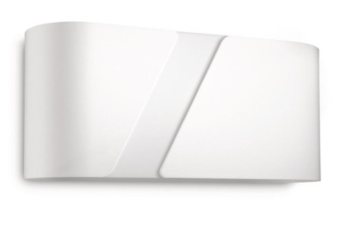 Philips Gainsboro Lampada da Parete, Metallo, Bianco, 27 cm