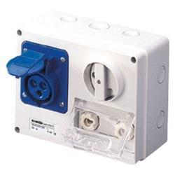 230v 6 Outlet (Gewiss GW66026Horizontal verriegelt Steckdose mit Sicherung Halter Boden, IP44, 6Referenz, 2P + E POLE, 200V-250V, 16A, 50Hz/60Hz, blau)