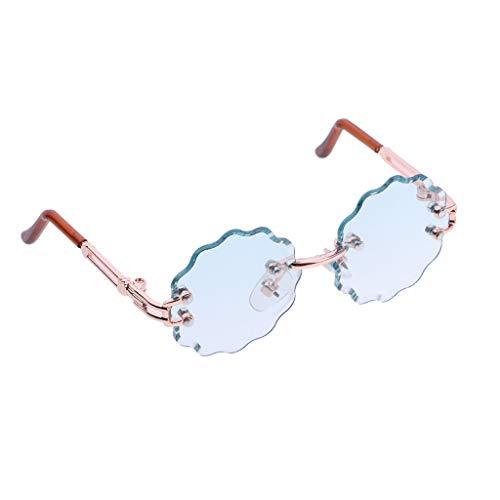 Baoblaze Modepuppe Zubehör Blumenform Sonnenbrillen Brillen Für 1/6 Blythe Puppe - Hellgrün