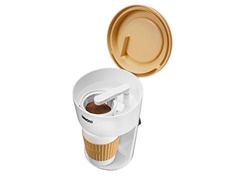Unold 28310 Kaffeeautomat to Go, Ideal für Büro oder im Urlaub, weiß/beige