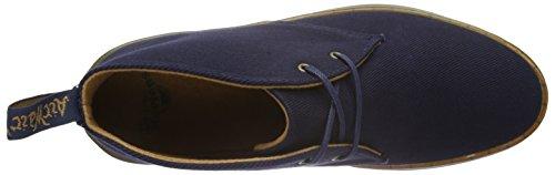 Dr. Martens Daytona Twill Canvas Navy, Bottes type Desert Boots non doublées - Hauteur à mi-mollet femme Bleu - Bleu marine