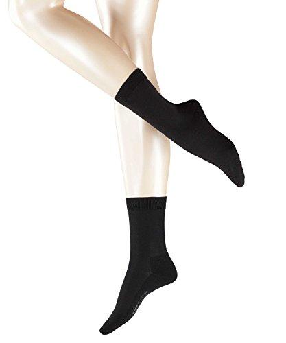 FALKE Damen Socken Wool Balance, Gr. 39/40, Schwarz (Black 3009) (Damen Balance)